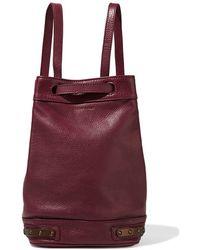 Tomas Maier - - Stud-embellished Leather Bucket Bag - Burgundy - Lyst