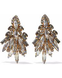 Elizabeth Cole - Gold-tone Crystal Earrings - Lyst