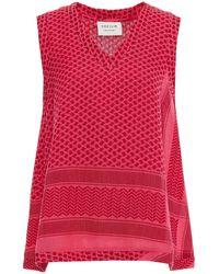 Cecilie Copenhagen Cecilie Copenhagen V Cotton-jacquard Top - Pink