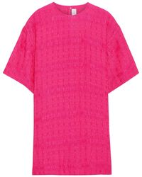 Victoria Beckham Cloqué Top Bright Pink