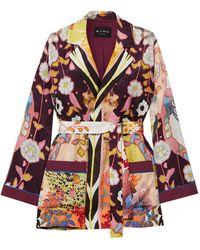 Etro Printed Jacquard Robe - Multicolour