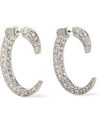 Kenneth Jay Lane - Woman Silver-tone Crystal Earrings Silver - Lyst