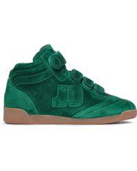 Jérôme Dreyfuss - Jérôme Dreyfuss Woman Nubuck High-top Sneakers Emerald - Lyst