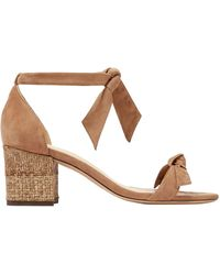 Alexandre Birman - Knotted Suede Sandals Light Brown - Lyst