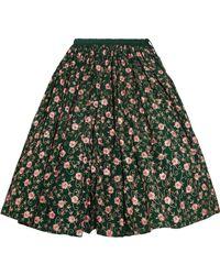 Ashish - Embellished Embroidered Cotton Midi Skirt - Lyst