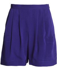 Emilio Pucci - Pleated Silk-crepe Shorts - Lyst