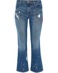 J Brand - Selena Mid-rise Cropped Bootcut Jeans - Lyst