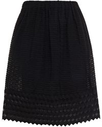 Hofmann Copenhagen Zooey Embroidered Tulle Mini Skirt - Black