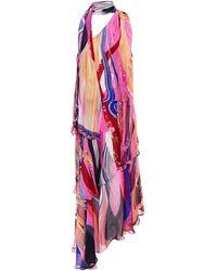 Camilla One-shoulder Printed Silk-chiffon Midi Dress - Multicolour
