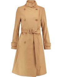 Vince - Double-breasted Wool And Cashmere-blend Coat - Lyst