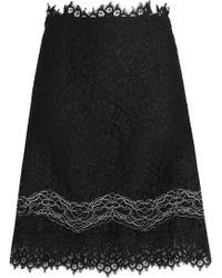 Sandro - Woman Corded Lace Mini Skirt Black - Lyst