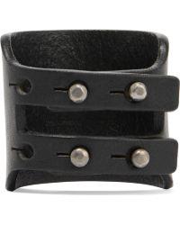 Rick Owens - Leather Cutout Cuff - Lyst