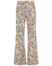 Etro Printed High-rise Flared Jeans - Multicolour