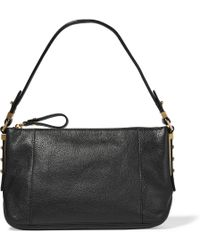 MICHAEL Michael Kors - Bowery Textured-leather Shoulder Bag - Lyst