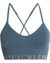 Calvin Klein - Printed Jersey Soft-cup Bra - Lyst