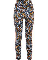 The Upside Atacama Dance Striped Floral-print Stretch leggings - Blue