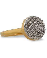 Monica Vinader - 18-karat Gold Vermeil Diamond Ring Gold - Lyst