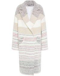IRO Loux Oversized Striped Bouclé Coat - Multicolour