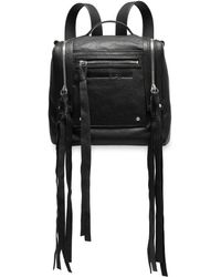 McQ Loveless Mini Convertible Textured-leather Backpack Black