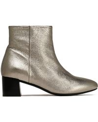 Claudie Pierlot - Metallic Textured-leather Ankle Boots - Lyst