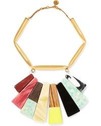 Stella McCartney - Gold-tone, Resin And Faux Wood Necklace - Lyst