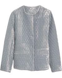 Ganni - Quilted Velvet Jacket - Lyst
