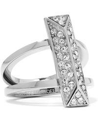 Rebecca Minkoff - Silver-tone Crystal Ring - Lyst