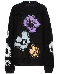 McQ Genesis Ii Oversized Intarsia Wool And Cashmere-blend Jumper - Black