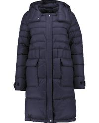 Theory Nealia Quilted Shell Coat - Blue