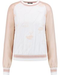 Raoul - Embroidered Tulle And Silk Sweatshirt - Lyst