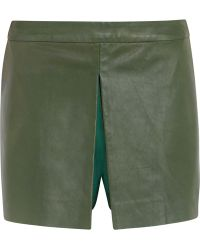 Raoul - Leather, Wool And Silk-blend Shorts - Lyst