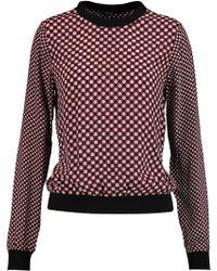 Raoul - Printed Silk Crepe De Chine Sweatshirt - Lyst