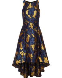 Noir Sachin & Babi - Cutout Metallic Brocade Dress - Lyst