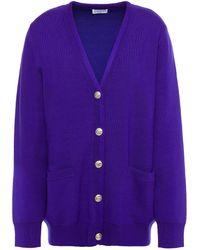 Claudie Pierlot Mime Wool-blend Cardigan - Purple