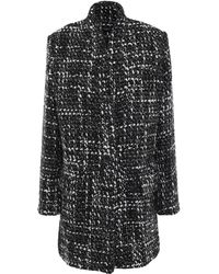 IRO Golden Bouclé-tweed Coat Black