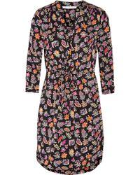 Diane von Furstenberg Freya Printed Stretch-silk Mini Dress - Multicolor