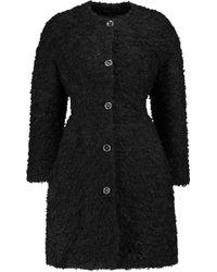 Giambattista Valli Mohair, Cotton And Wool-blend Bouclé Coat - Black