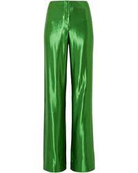 Jason Wu Satin Wide-leg Trousers - Green
