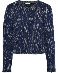 Soft Joie Akinyi Quilted Jacquard Jacket Navy - Blue