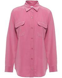 Equipment Hemd Aus Vorgewaschener Seide - Pink