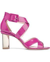 10b602b4030 Lyst - Nicholas Kirkwood Baby Pink Carnaby Prism Pump in Pink