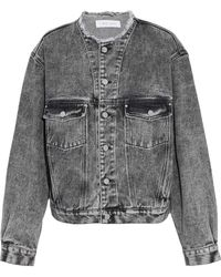 IRO - Frayed Faded Denim Jacket - Lyst