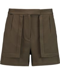 Halston - Stretch-crepe Shorts - Lyst