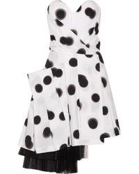 Marc By Marc Jacobs - Blurred Dot Stretch-cotton Poplin Mini Dress - Lyst