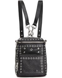McQ Embellished Glossed Pebbled-leather Backpack Black