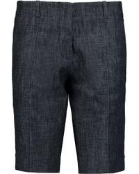 Victoria Beckham Bermuda Denim Shorts - Black