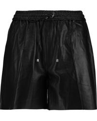Victoria Beckham - Leather Shorts - Black