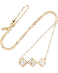 Elizabeth and James - Truitt Gold-tone Crystal Necklace - Lyst