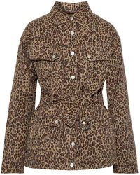 Marissa Webb Ellery Belted Leopard-print Cotton-twill Jacket Animal Print - Brown