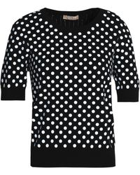 Michael Kors - Sequined Ribbed-knit Top - Lyst